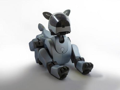 活潑具有靈魂的人工智慧機器狗人類新夥伴